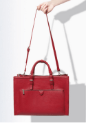 City Bag With Zips Red