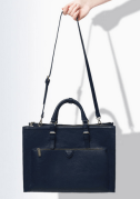 City Bag With Zips Navy