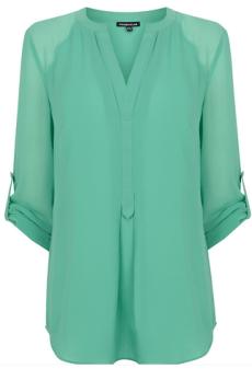 Sheer Sleeve Tunic