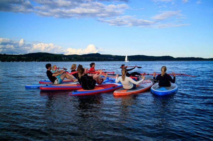 SUP Yoga Insel Reichenau Melanie Klühe