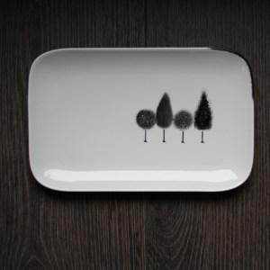 plat peinture porcelaine fait main