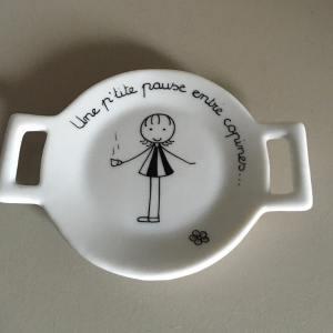 repose sachet de the porcelaine créateur