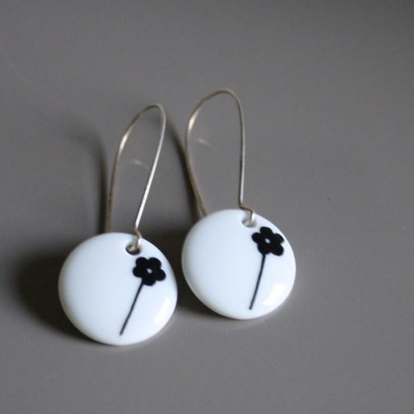 boucles d'oreilles porcelaine fait main