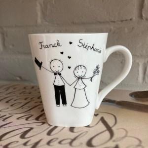 cadeae mariage original prénoms