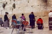 Femmes priant au Mur des Lamentations