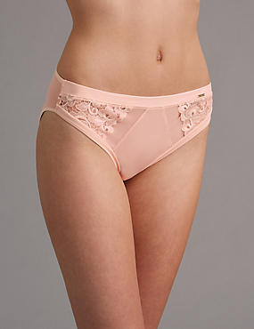 AUTOGRAPH New Guipure Embroidered High Leg Knickers