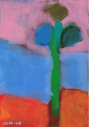 """Small landscape, Day 8 - 7"""" x 5"""" on canvas board."""