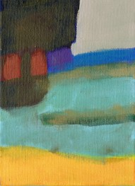 """Small landscape, Day 56 - 7"""" x 5"""" on canvas board."""