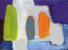 """Small landscape, Day 75 - 5"""" x 7"""" on canvas board."""