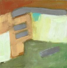 """Small landscape, Day 90 - 6"""" x 6"""" on Masonite."""