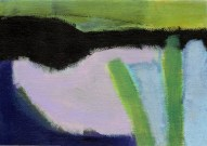 """Small landscape, Day 69 - 5"""" x 7"""" on canvas board."""