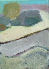 """Small landscape, Day 48. 7"""" x 5"""" on canvas board."""