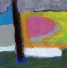 """Small landscape, Day 81 - 6"""" x 6"""" on Masonite."""