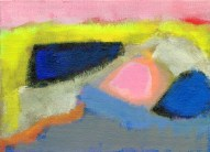 """Small landscape, Day 66 - 5"""" x 7"""" on canvas board."""