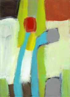 """Small landscape, Day 76 - 7"""" x 5"""" on canvas board."""