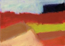 """Small landscape, Day 83 - 5"""" x 7"""" on canvas board."""
