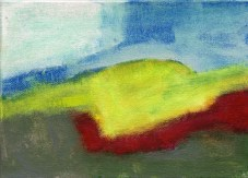 """Small landscape, Day 92 - 5"""" x 7"""" on canvas board."""