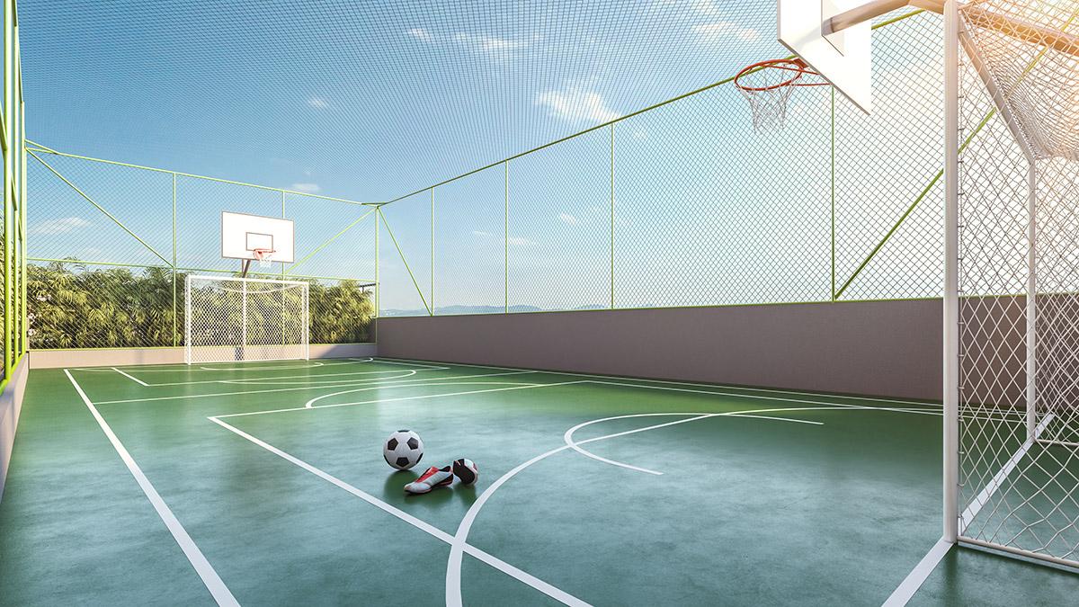 Quadra Poliesportiva do Next Astorga Condomínio Clube