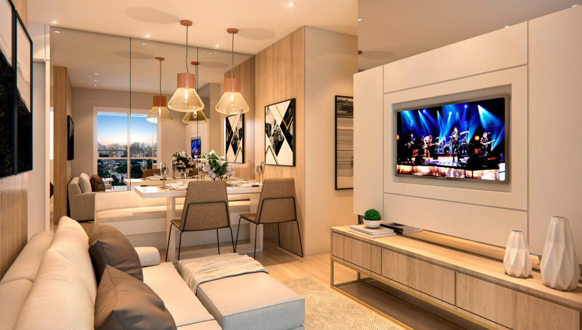 Apartamento de 50m² do TEG Corazza