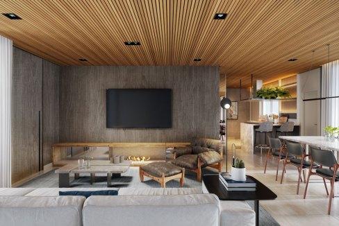 Exclusivo Living com 180º do Apartamento de 112m² do Lançamento Funchal 641