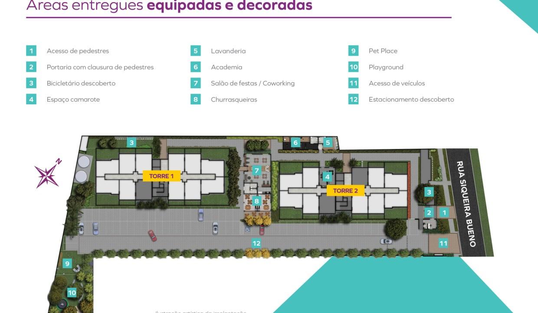Implantação do Vivaz Estação Belém