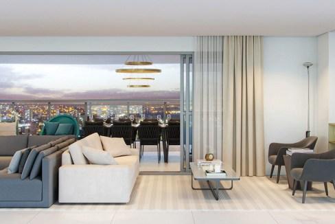 Perspectiva Ilustrada do living do apto. de 175 m² com sugestão de decoração – final 01 - Signature by Ott
