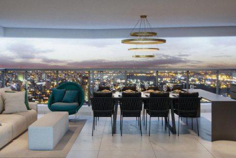 Perspectiva Ilustrada do terraço do apto. de 175 m² com sugestão de decoração – final 01 - Signature by Ott