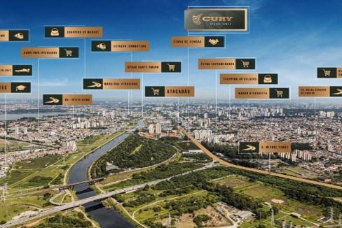 Destaques da Localização do Lançamento Cury Dez Miguel Yunes
