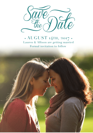 afternoon-glow-save-the-dates-green-by Claudia Owen