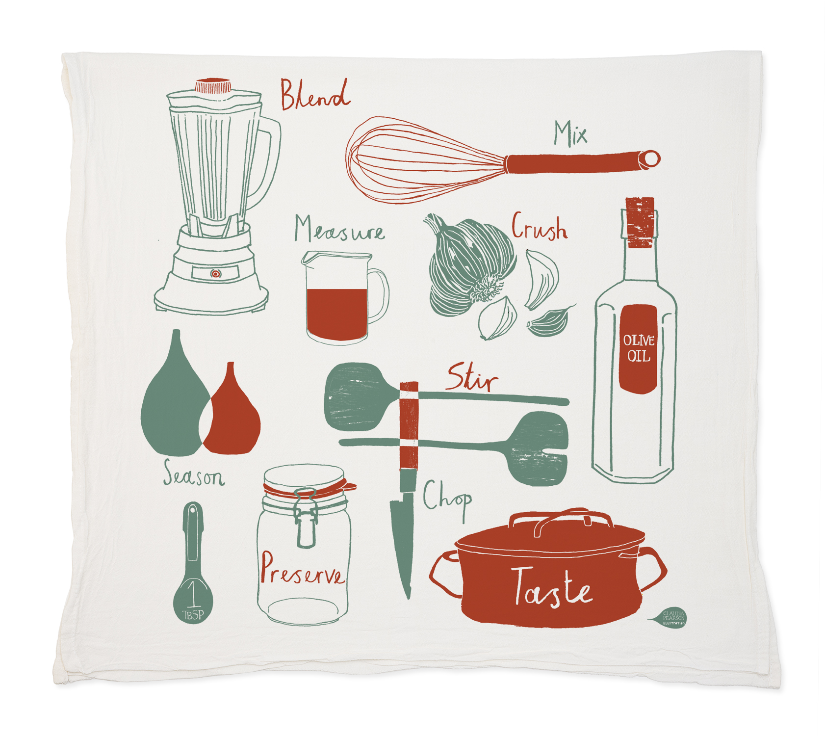 kitchen tea towels how much is it to remodel a small towel claudia pearson illustration