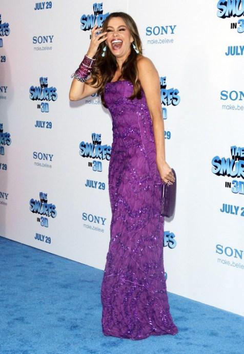 Sofía Vergara en la alfombra azul de la premiere de 'Los Pitufos' en Nueva York