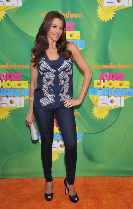 Sofía Vergara en la alfombra roja de los Kids' Choice Awards