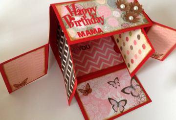 Mini álbum cartera scrapbook para cumpleaños