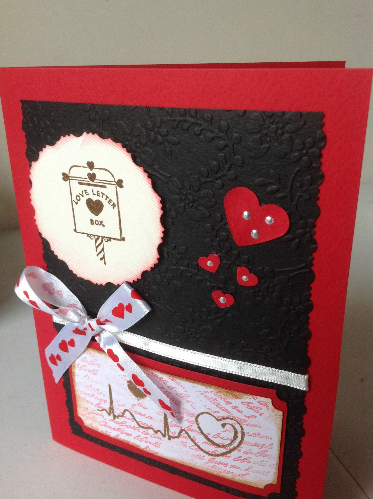 Tarjetas Scrapbook Para San Valentin Claudia Rafaella