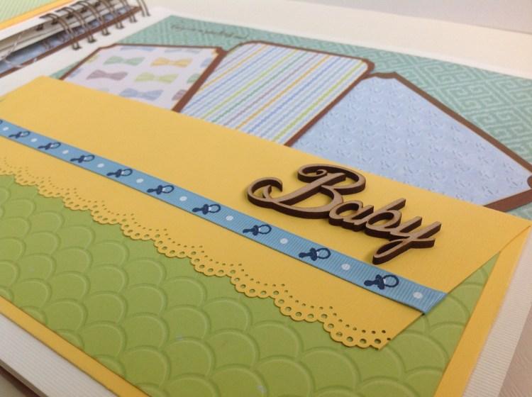 Album scrapbook para baby shower o bebe (21)