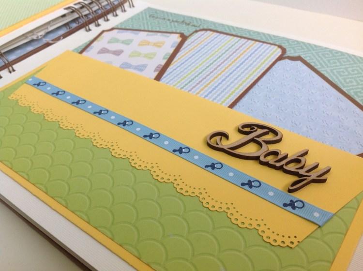 Album scrapbook para baby shower o bebe (22)