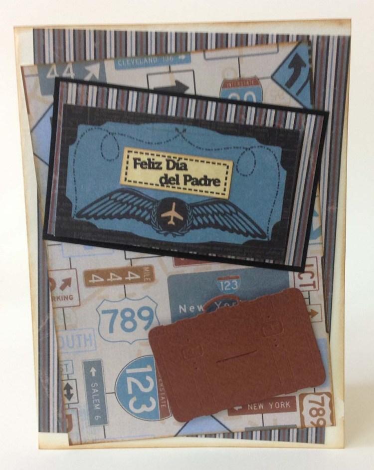 tarjeta scrapbook para el dia del padre