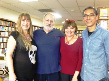 Sheila, Dennis Palumbo, Connie DiMarco, George Fong at Book Carnival