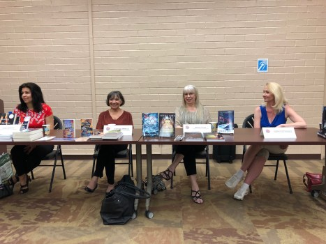 Lida Sideris, Connie DiMarco, Sheila, Catherine Polonero at Culver City Library