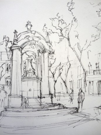 At the Carmo Convent in Lisbon (Urban Sketch) #2