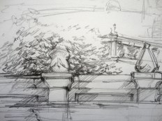 Santa Apolónia Urban Sketch (Detail)