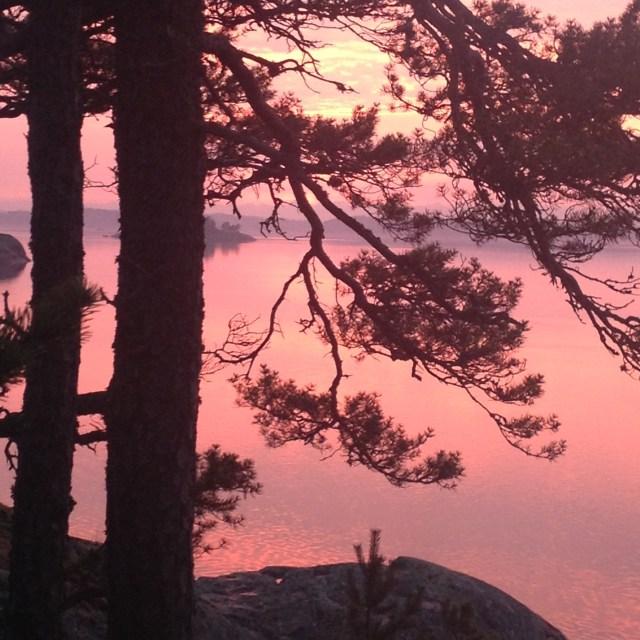 Sonnenuntergang in den Schären
