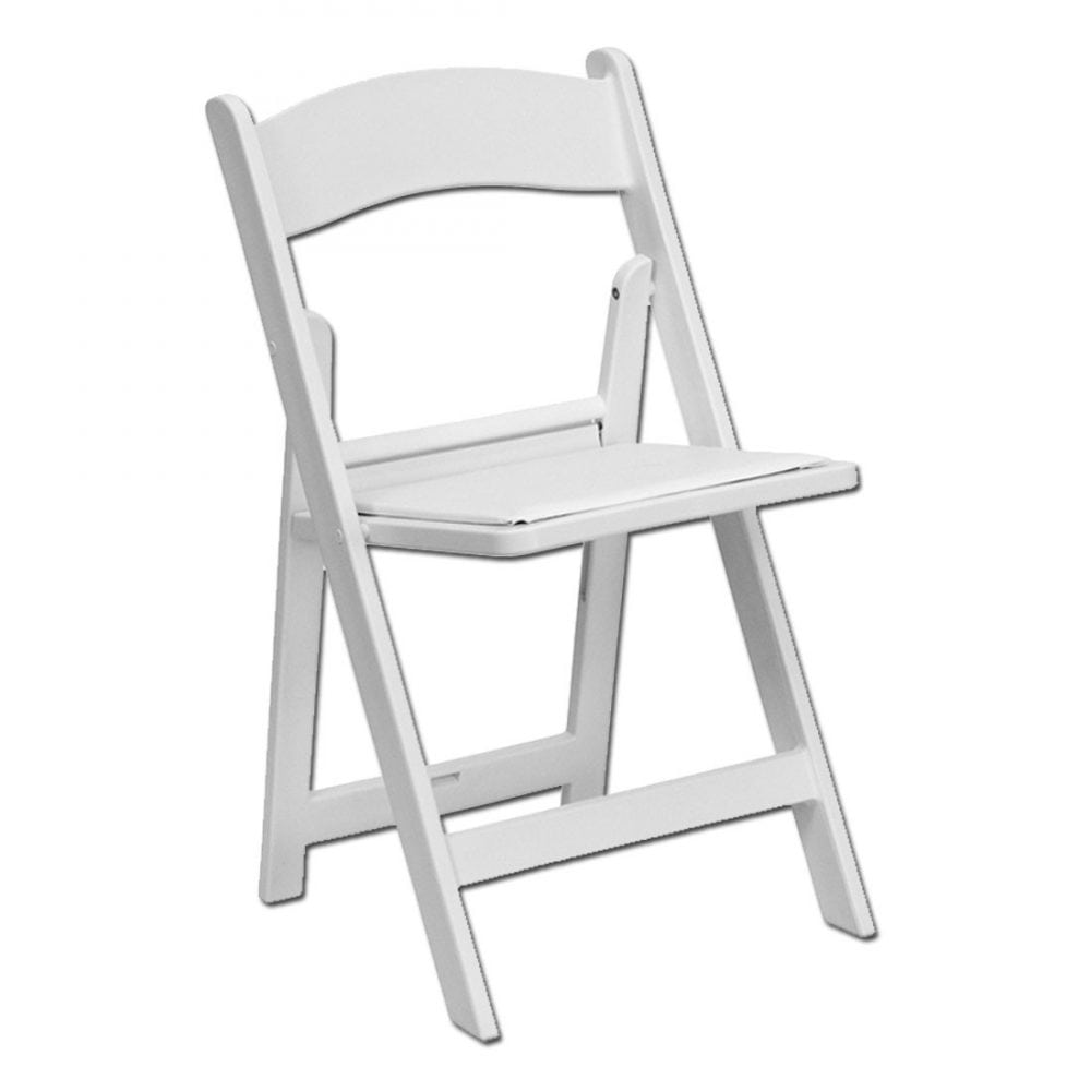 white cushion chair resin adirondack chairs home depot claudia s party rentals