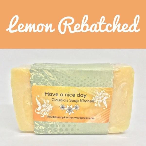 Lemon rebatch Soap Bar