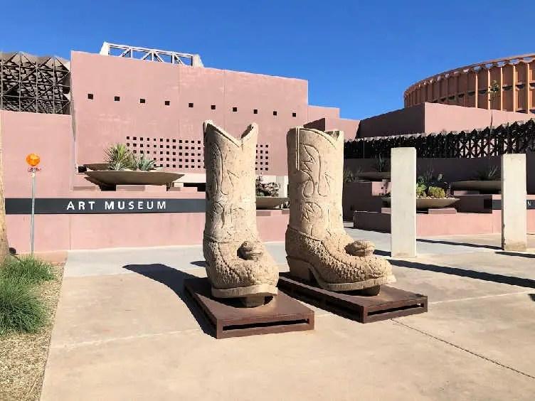 ASU art gallery cowboy boots