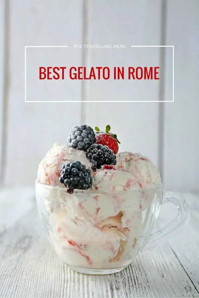 gelato in rome with frozen berries