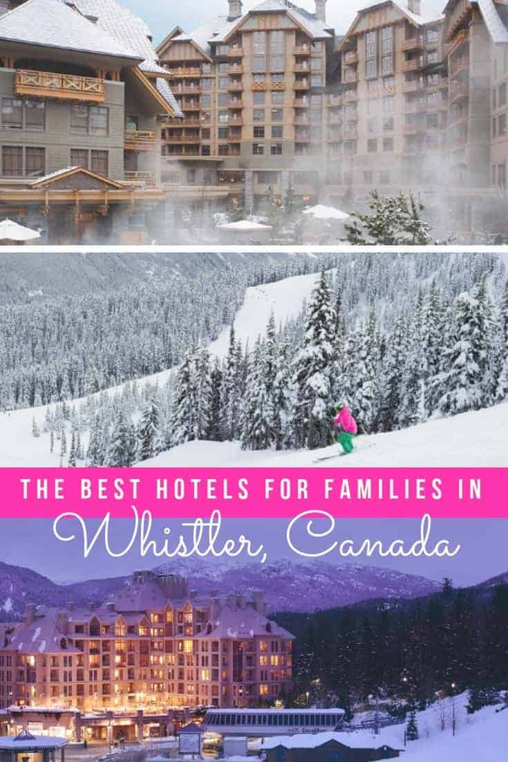 Whether you want ski-in ski-out, or a hotel pool with a view, here are six of the best Whistler hotels for families to stay and play this season. | #whistler #hotels #canadatravel #wintertravel #familytravel #traveltips #skiing #skitravel #britishcolumbia #whistlerhotels