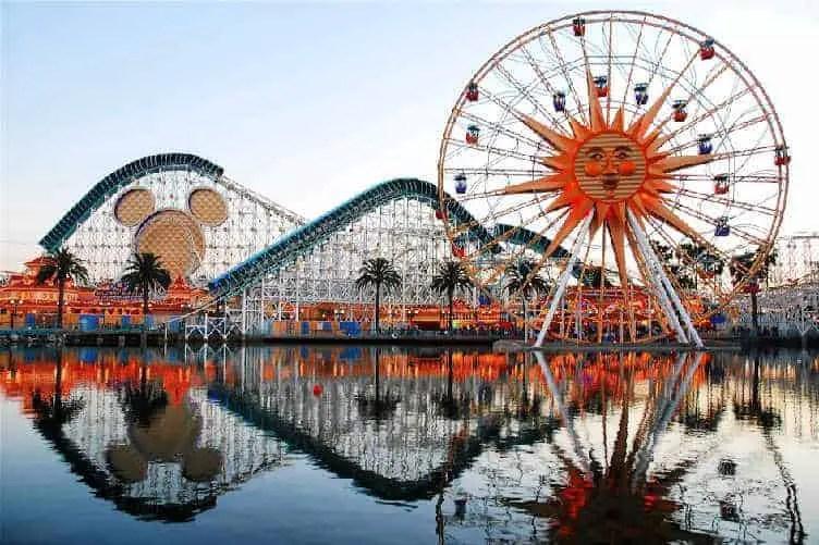 roller coast at california adventure disneyland