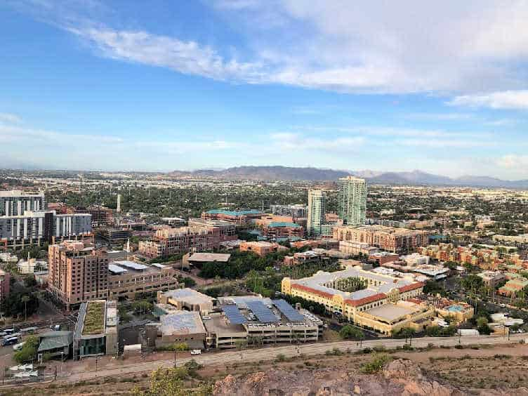 view of downtown tempe