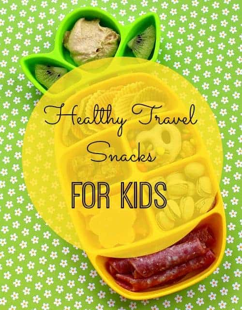 pineapple-shaped snack container filled with travel snacks for kids